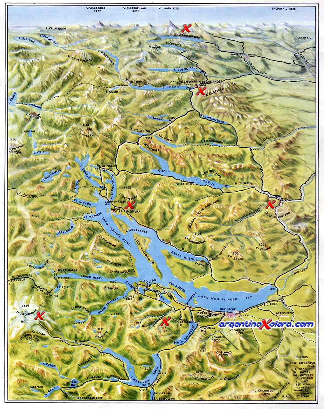 Map Of Bariloche Forest Andinopatagónicos Mounts And Lakes Of - Argentina map bariloche